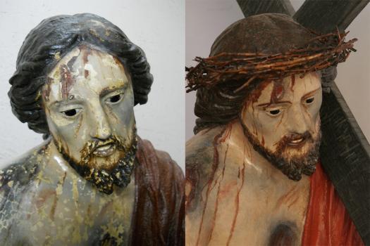 cristo via crucis cartapesta